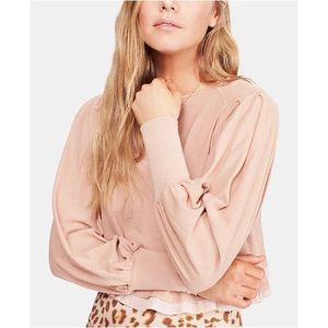 NEW free people Billie cropped contrast shirt
